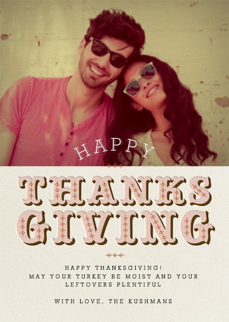 Thanksgiving Photo - Antique Pink - Paperless Post