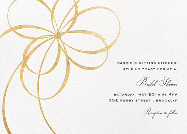 Belle Boulevard - Gold - kate spade new york - Bridal shower