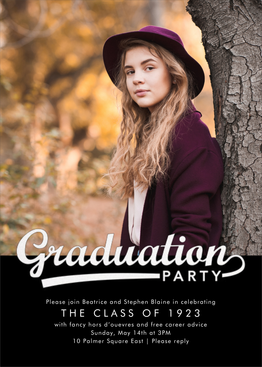 Pennant Party (Pitch) - Photo - Paperless Post - Graduation party