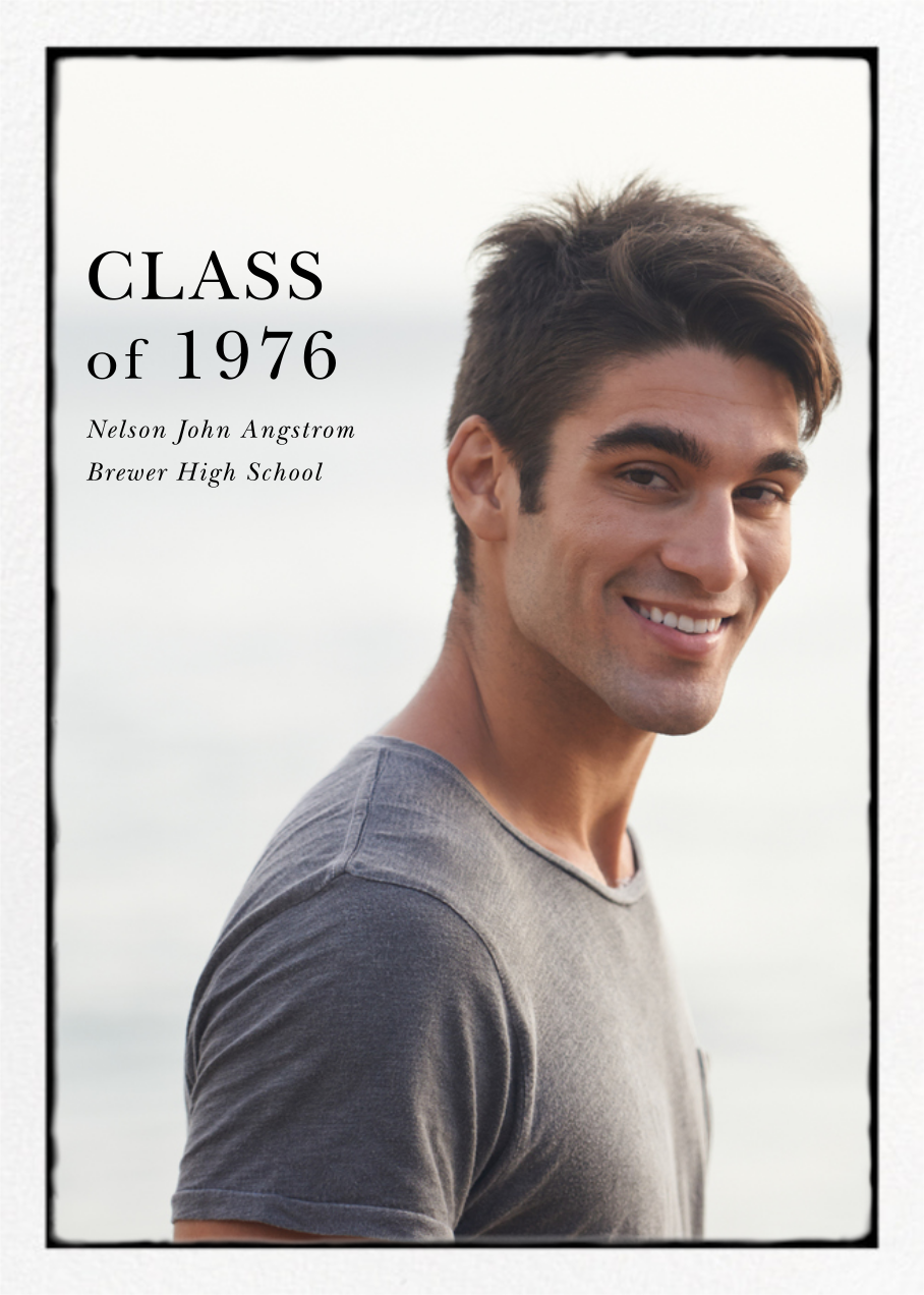 Photo Overprint - Tall - Paperless Post - Graduation