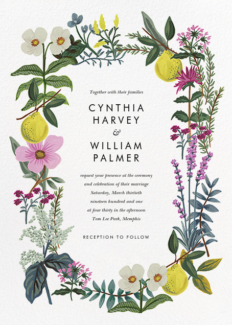 Herb Garden (Invitation) - Rifle Paper Co. - All
