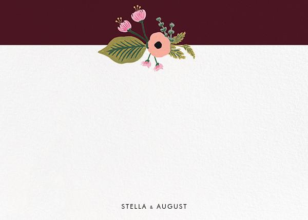 September Herbarium (Stationery) - Merlot - Rifle Paper Co. - Personalized stationery