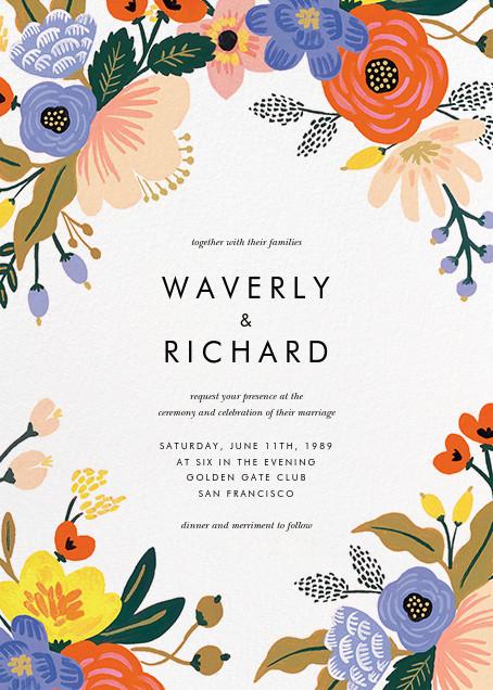 Vivid Florals (Invitation) - Rifle Paper Co. - All