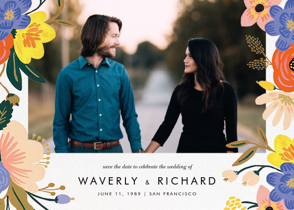 Vivid Florals (Photo Save the Date) - Rifle Paper Co. - Photo