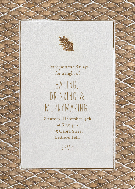 Pine Cones in the Forest - Paperless Post - Fall parties