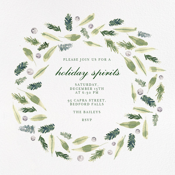 Beacon Hill Wreath - Paperless Post - Christmas party