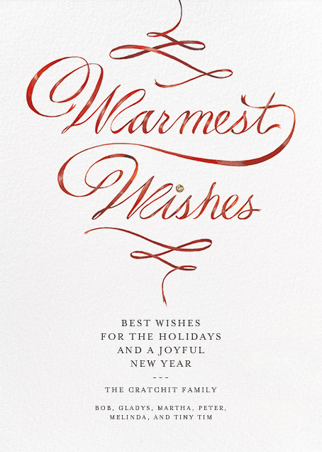 Warmest Wishes - Paperless Post - Company holiday cards