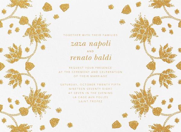 Vernal Imprint (Invitation) - Gold - Oscar de la Renta - All