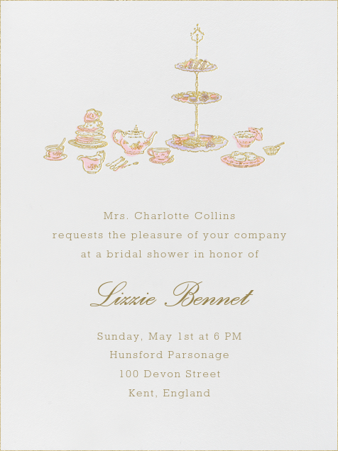 High Tea - Pink - Paperless Post - Bridal shower
