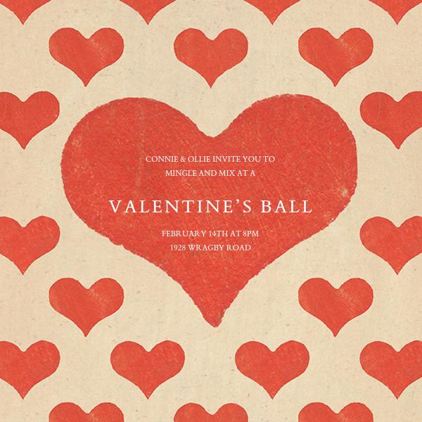 Patterned Hearts (Invitation) - John Derian - Valentine's Day