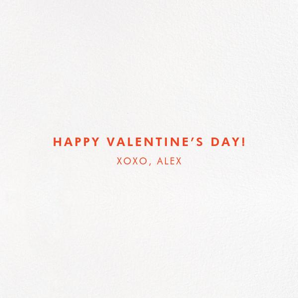 Take Me Shopping - kate spade new york - Valentine's Day - card back