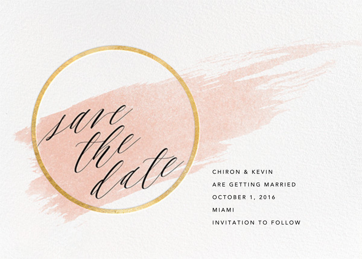 Selene - Meringue/Gold - Paperless Post - Party save the dates