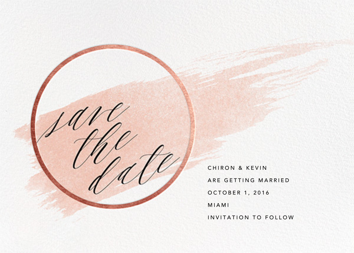 Selene - Meringue/Rose Gold - Paperless Post - Save the date
