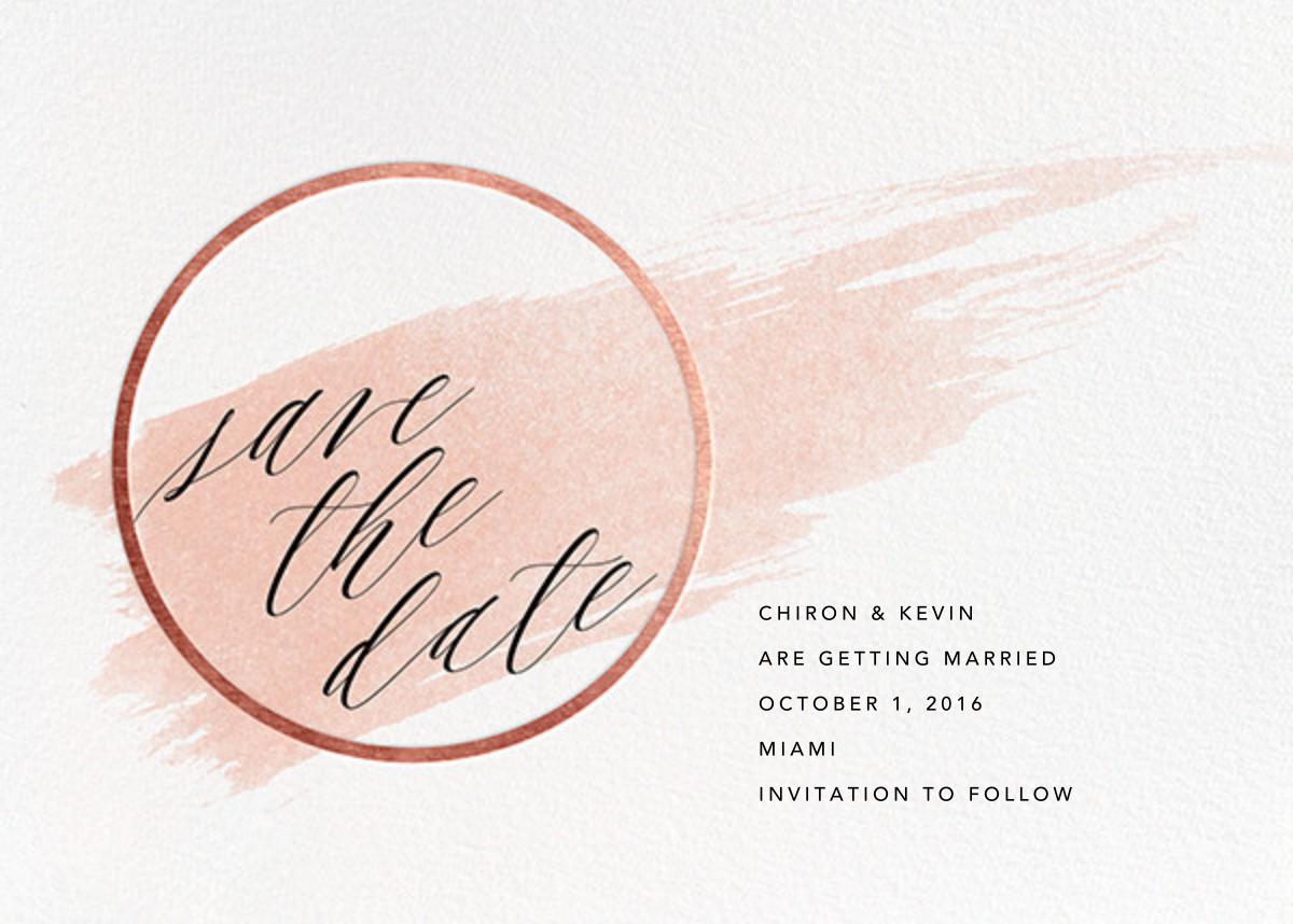 Selene - Meringue/Rose Gold - Paperless Post - Save the date