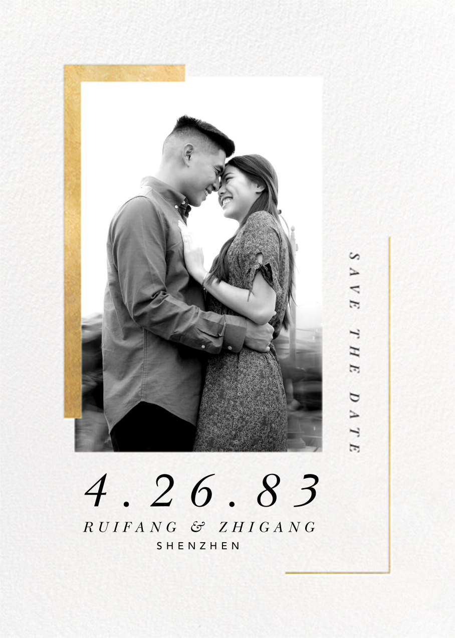Ando (Photo Save the Date) - Gold - Paperless Post - Photo