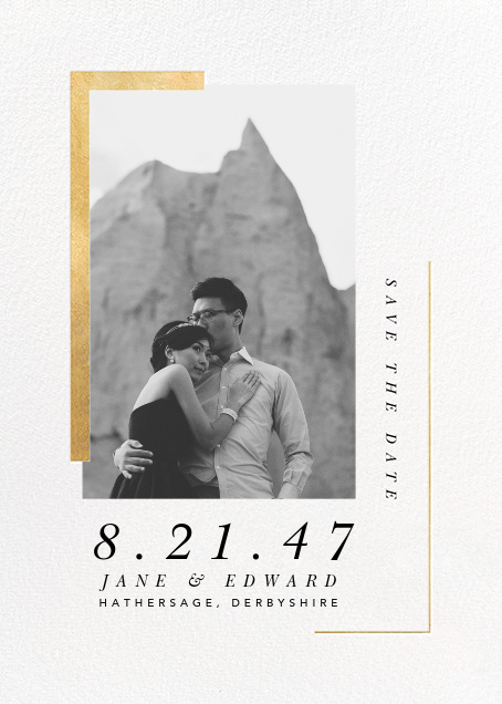 Ando (Photo Save the Date) - Gold - Paperless Post - Modern