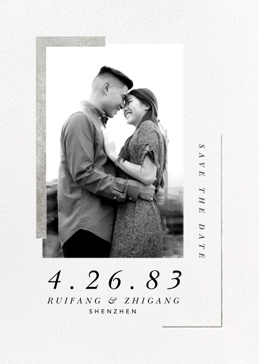 Ando (Photo Save the Date) - Silver - Paperless Post - Photo
