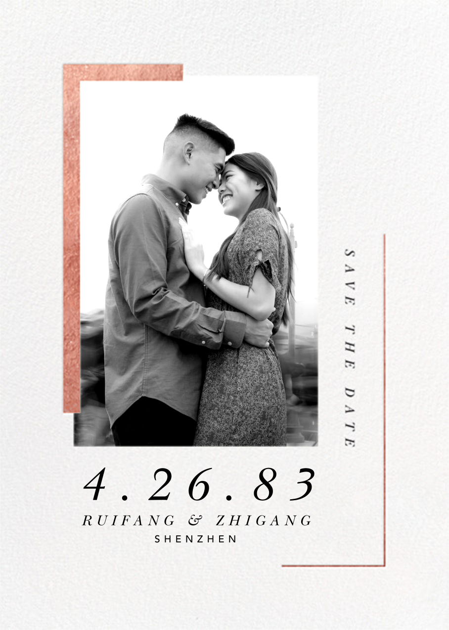 Ando (Photo Save the Date) - Rose Gold - Paperless Post - Photo