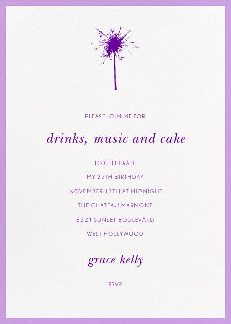 Contorno - Purple - Paperless Post - Adult birthday