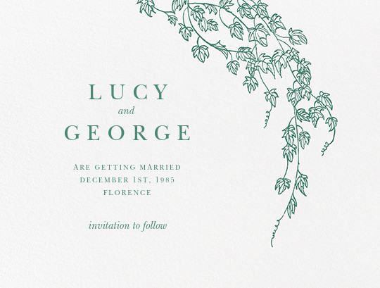 Gwendolyn I (Save The Date) - Hunter Green - Paperless Post - Save the date