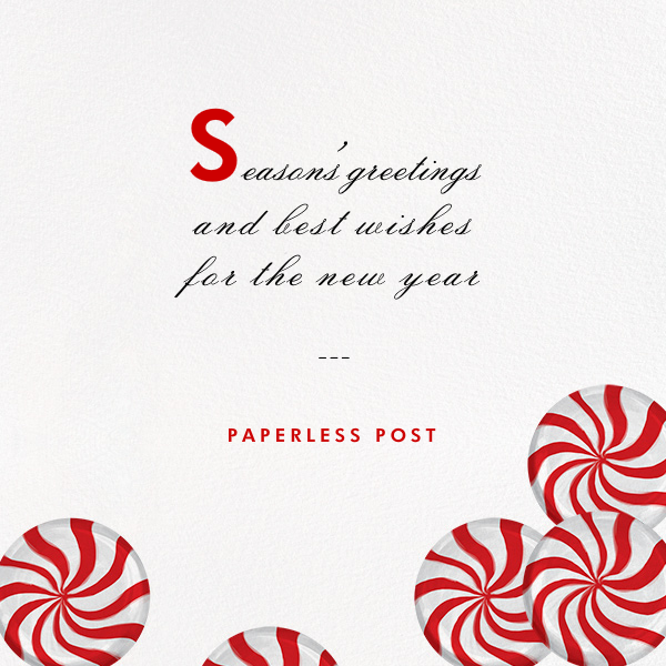 Peppermints on Ivory - Paperless Post - Business holiday cards