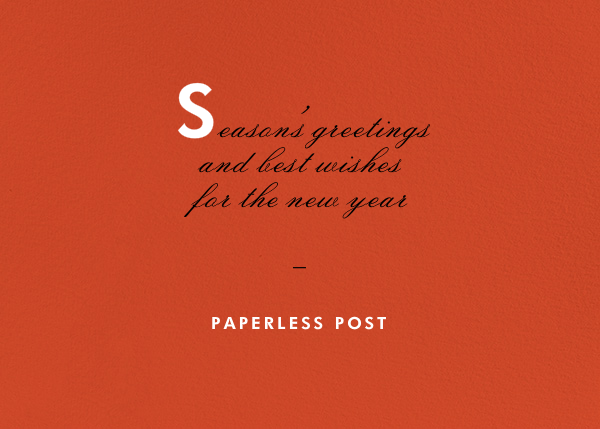 Blood Orange - Horizontal - Paperless Post - Business holiday cards
