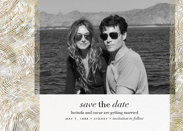 Aria (Photo Save the Date) - Sepia - Kelly Wearstler - Modern