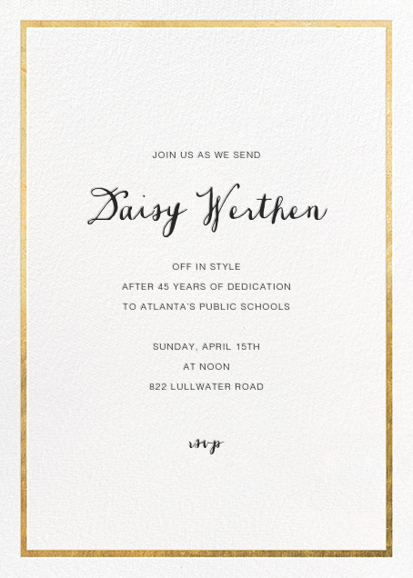 Idylle - White/Gold - Paperless Post - Retirement party