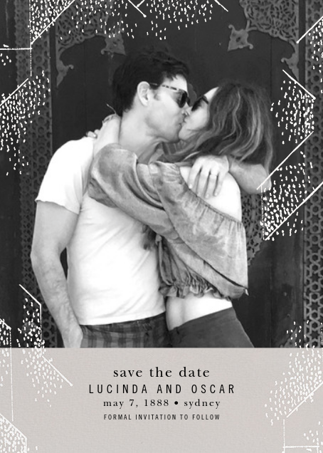 Brink (Photo Save the Date) - Oyster - Kelly Wearstler - Photo