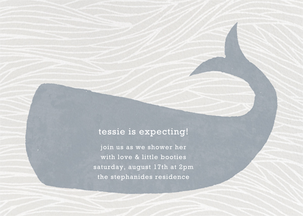 Vintage Whale - Paperless Post - Baby shower