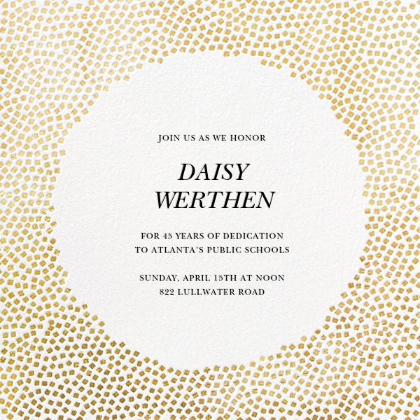 Konfetti - Gold - Kelly Wearstler - Retirement party