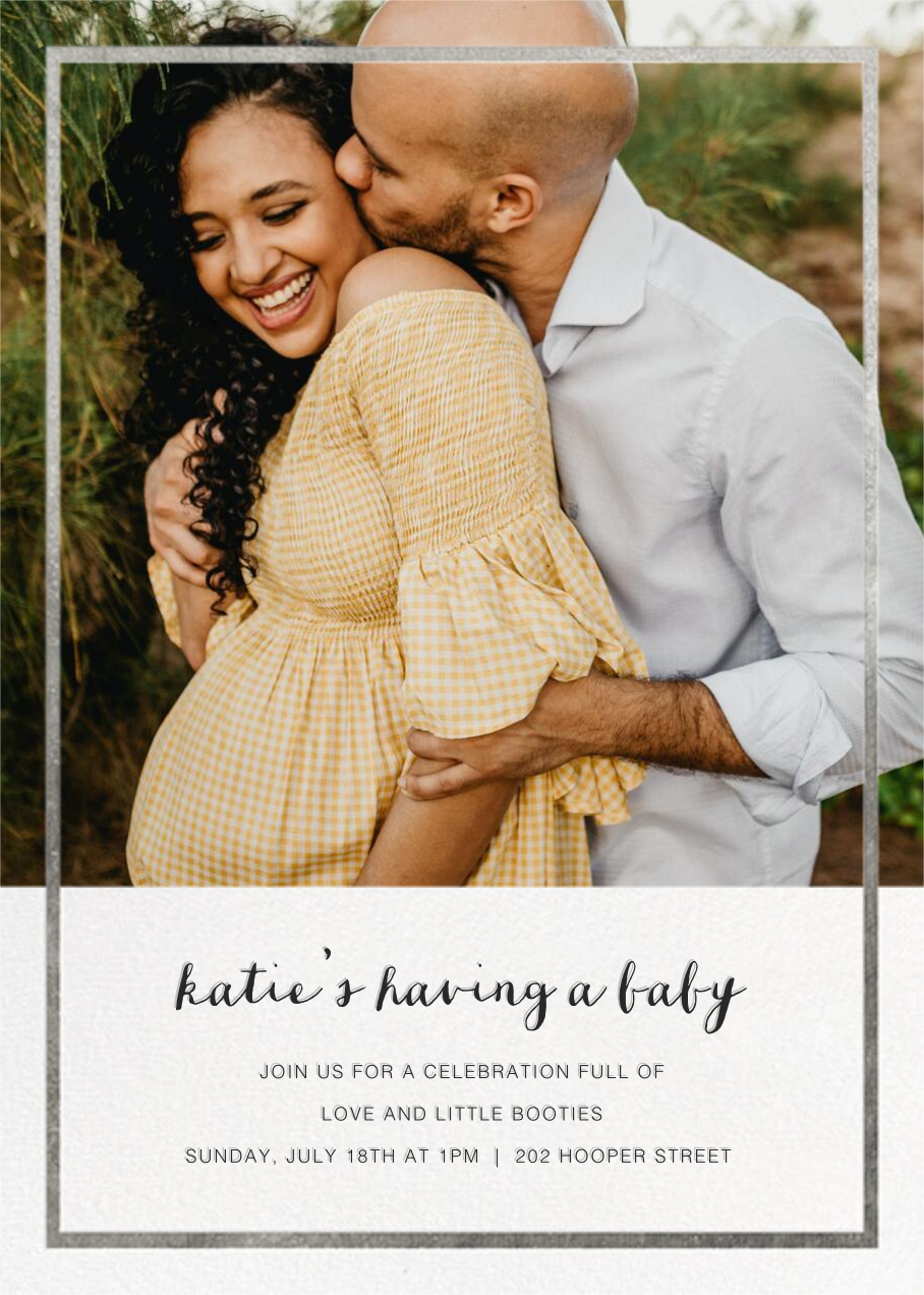 Idylle (Photo)  - Silver - Paperless Post - Baby shower