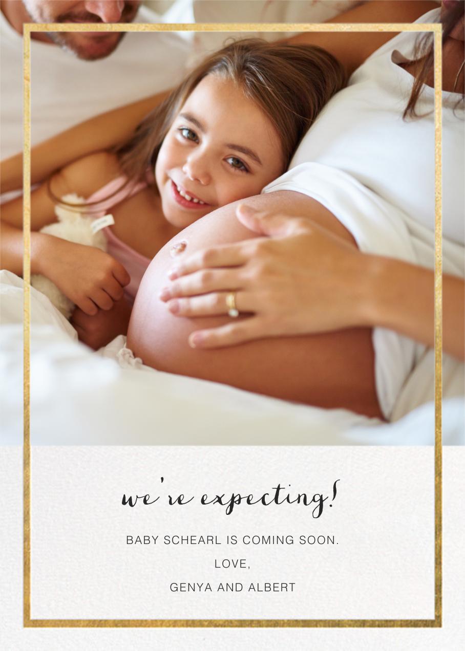 Idylle (Photo)  - Gold - Paperless Post - Birth