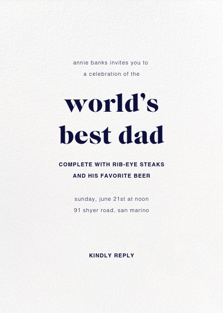 Full-Page Photo (Double-Sided) - Paperless Post - Father's Day - card back