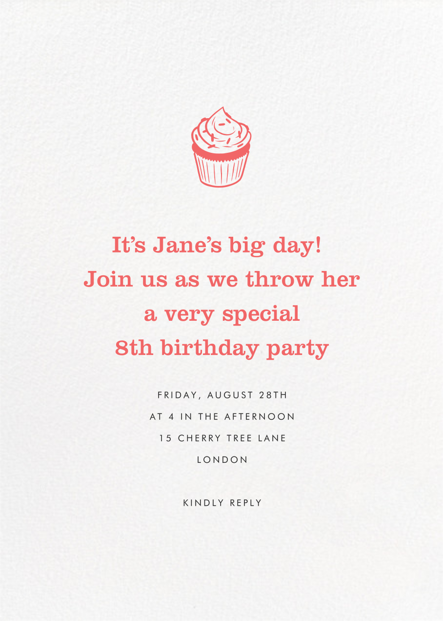 Full-Page Photo (Double-Sided) - Paperless Post - Kids' birthday - card back