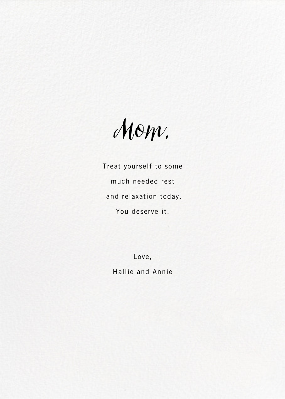Full-Page Photo (Double-Sided) - Paperless Post - Mother's Day - card back
