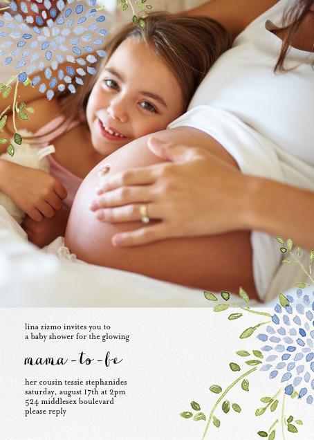 Dahlias (Photo) - Blue - Paperless Post - Baby shower