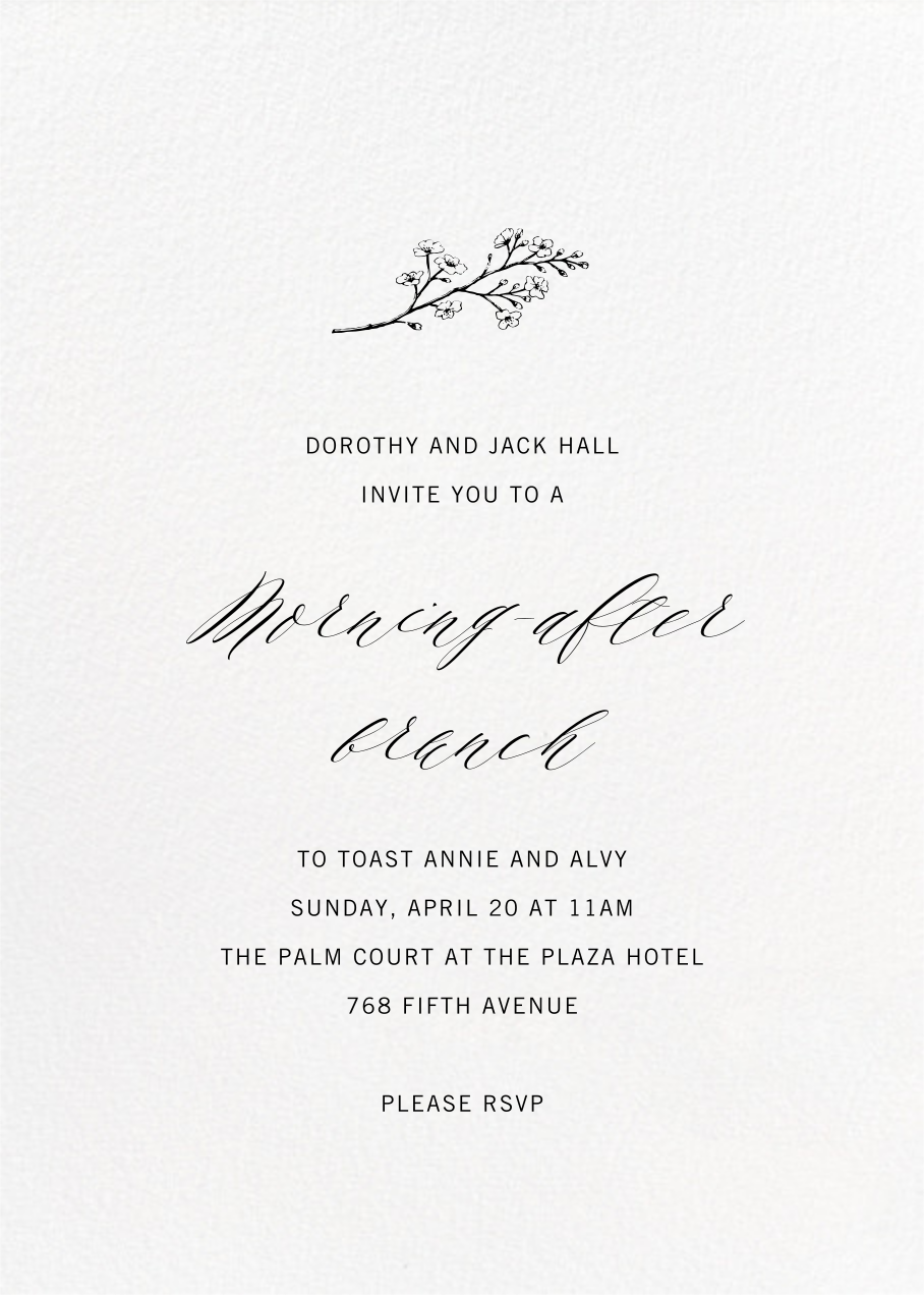 Full-Page Photo (Double-Sided) - Paperless Post - Wedding brunch - card back