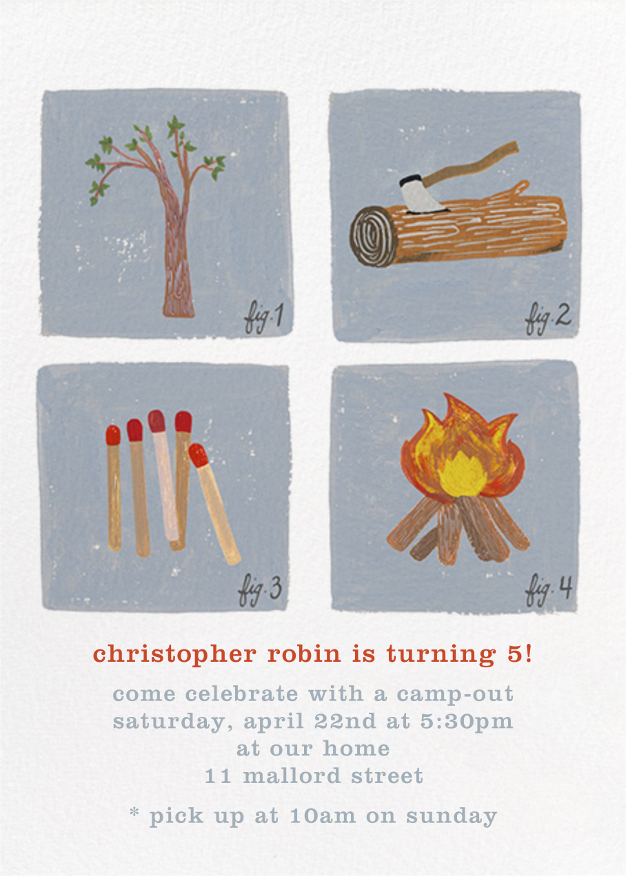 How to Build a Fire Invitation - Paperless Post - Kids' birthday