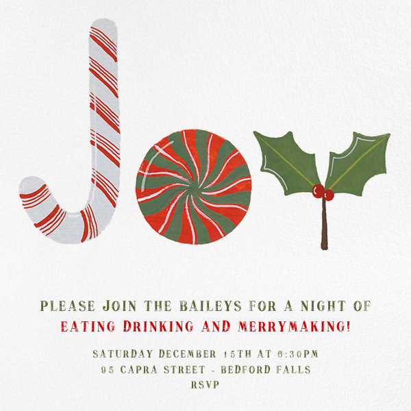 Joy to the World of Sweets - Paperless Post - Christmas party