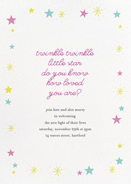 Stars over Tiny Town - Pink/Blue - Little Cube - Baby shower