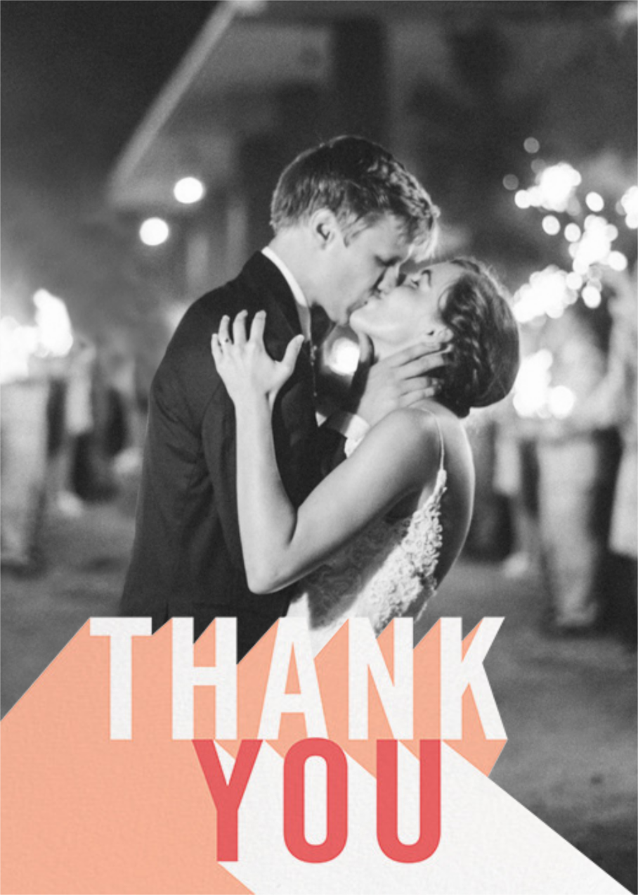 Featured Thanks (Photo) - Sherbet - Paperless Post - Thank you