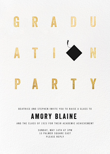 Degree in Letters - Paperless Post - Graduation party