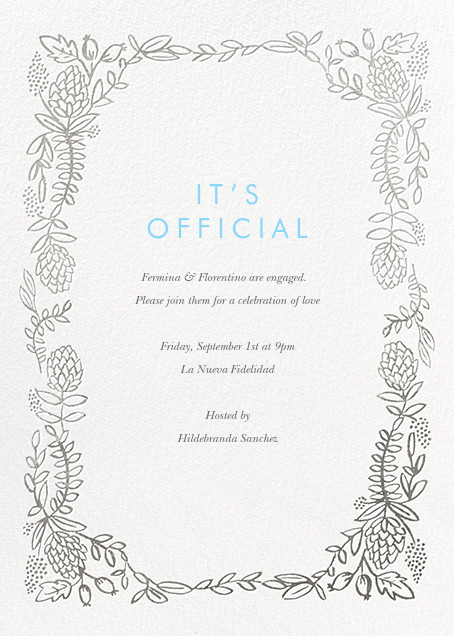 Botanical Lace - Silver - Rifle Paper Co. - Engagement party
