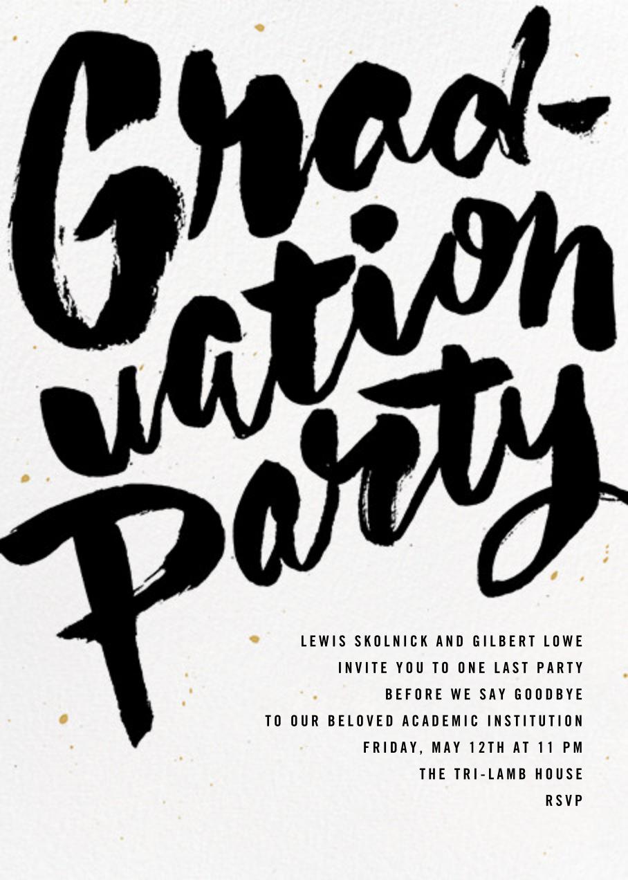 Graffiti Grad - Paperless Post - Graduation party