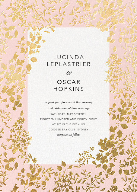 Richmond Park (Invitation) - Pink/Gold - Oscar de la Renta - All