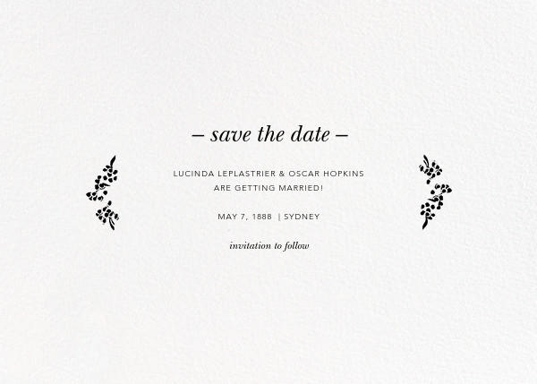 Richmond Park (Photo Save the Date) - Gold - Oscar de la Renta - Photo  - card back