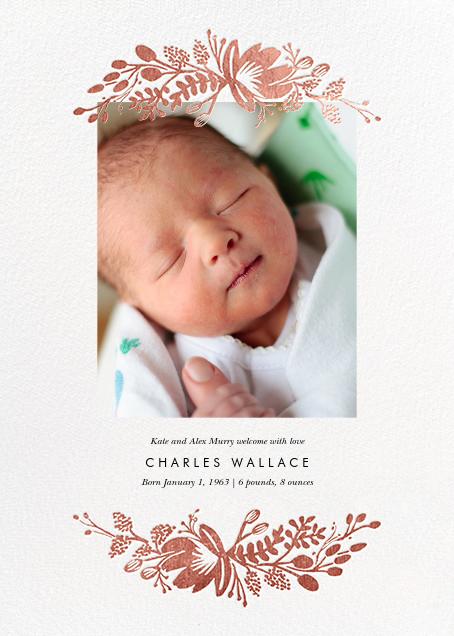 Floral Silhouette (Portrait Photo) - White/Rose Gold - Rifle Paper Co.