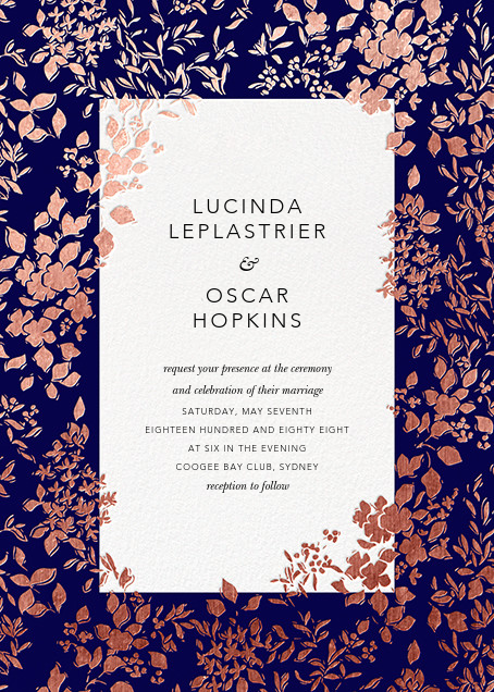 Richmond Park (Invitation) - Navy/Rose Gold - Oscar de la Renta - All