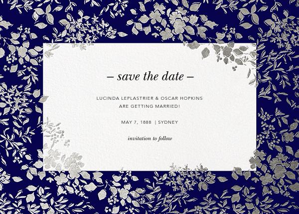 Richmond Park (Save the Date) - Navy/Silver - Oscar de la Renta - Save the date